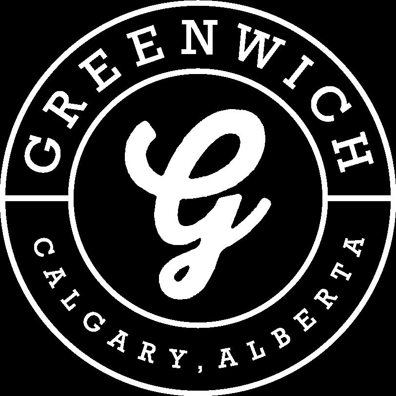 Greenwich Calgary logo white